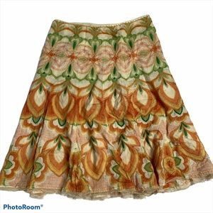 Elie Tahari Pleated Lined Skirt